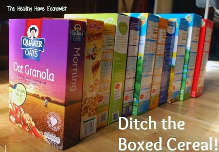 healthy cereal is not in a box