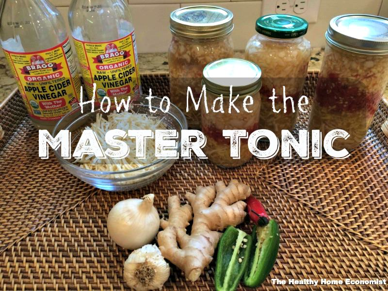 master tonic ingredient preparation on a table