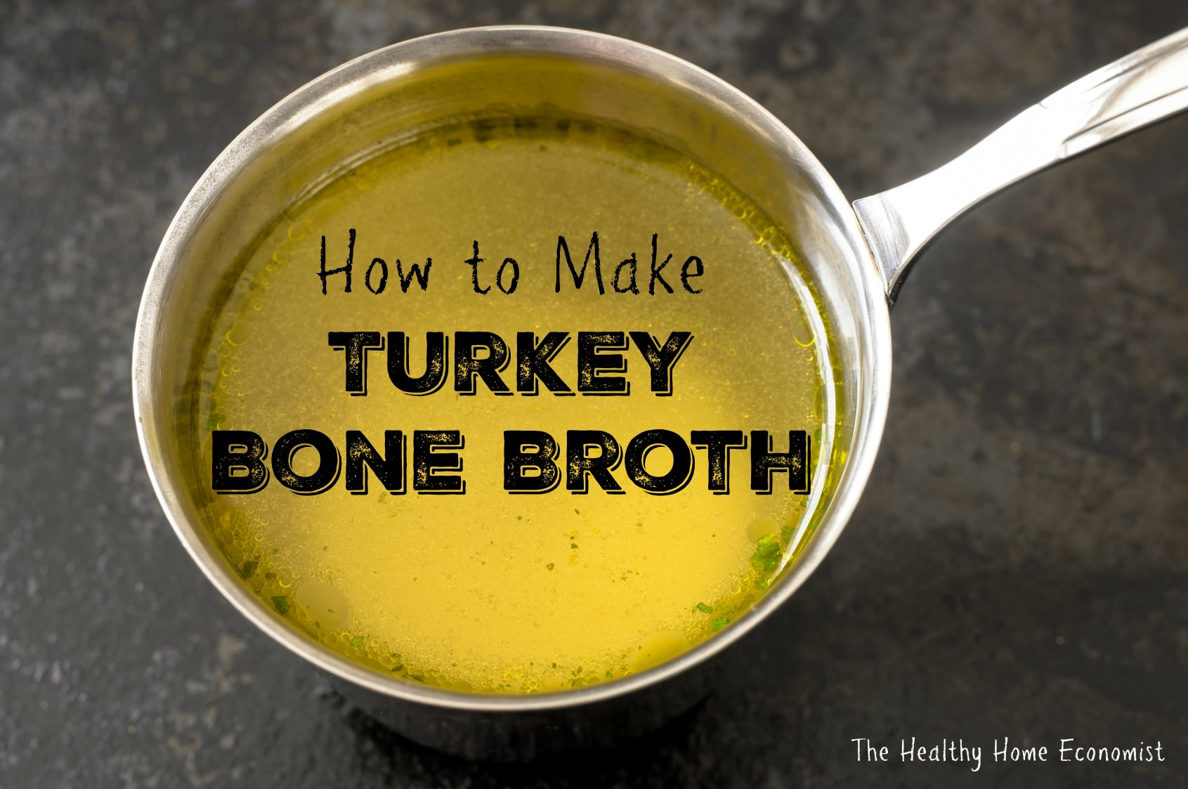 How to make bone broth from turkey carcass