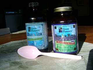 cod liver oil with spoon