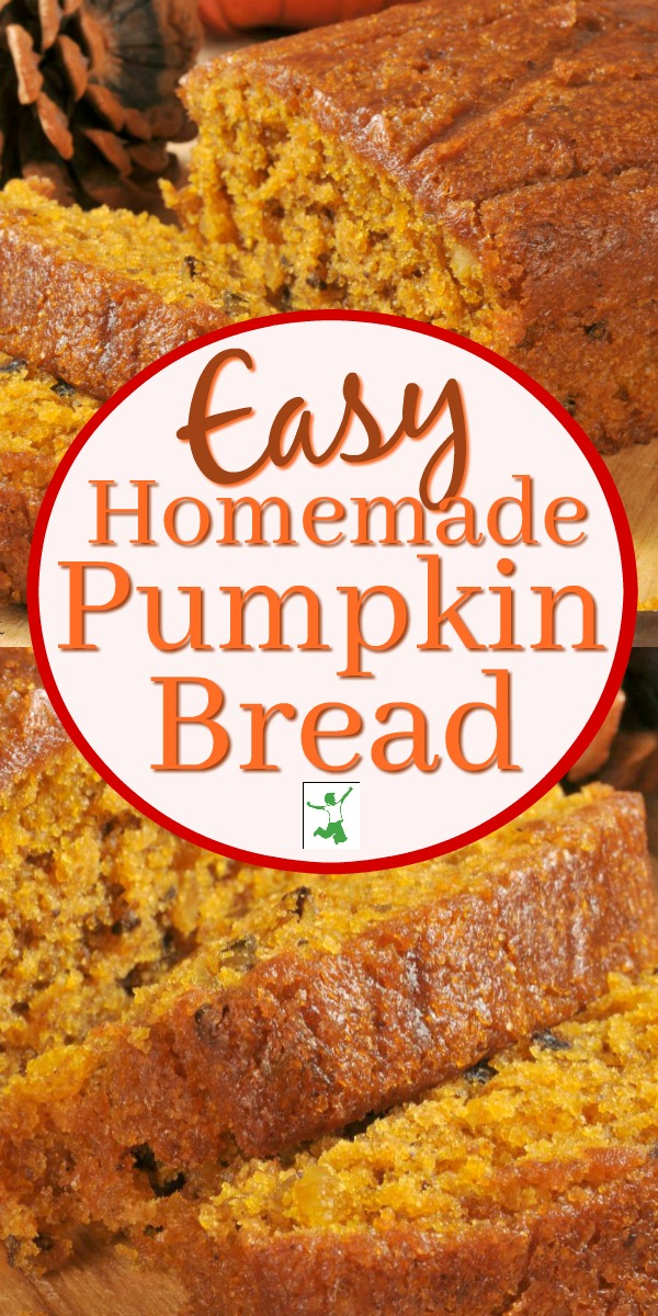 Easy homemade pumpkin bread