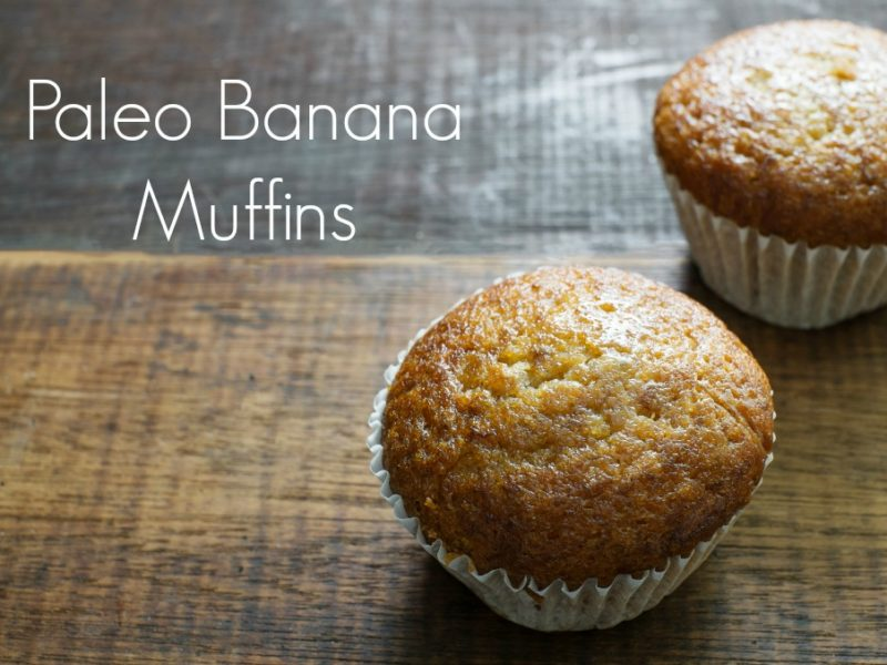 paleo banana muffins on a cutting board