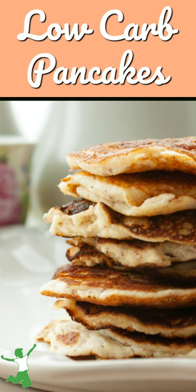 stack of keto pancakes on a table