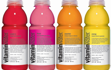 vitaminwater is just soda without the fizz