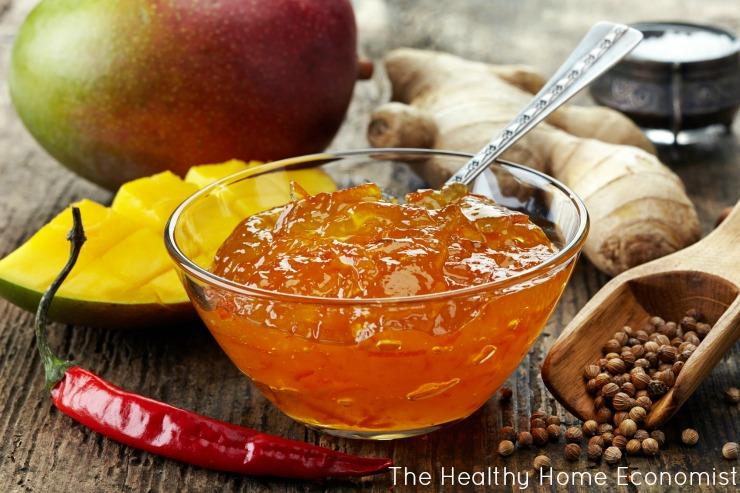 mango chutney in a bowl