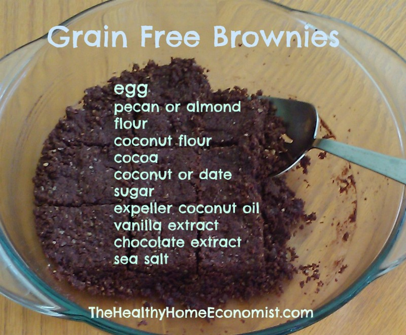 grain free brownies in bowl