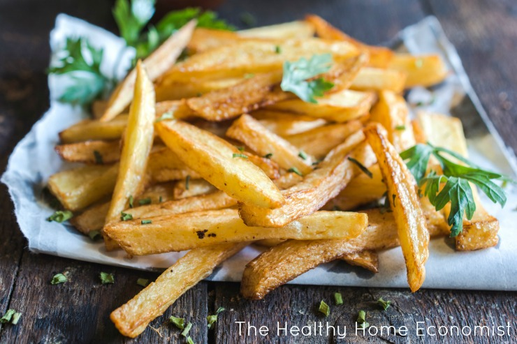 healthy french fries on the table