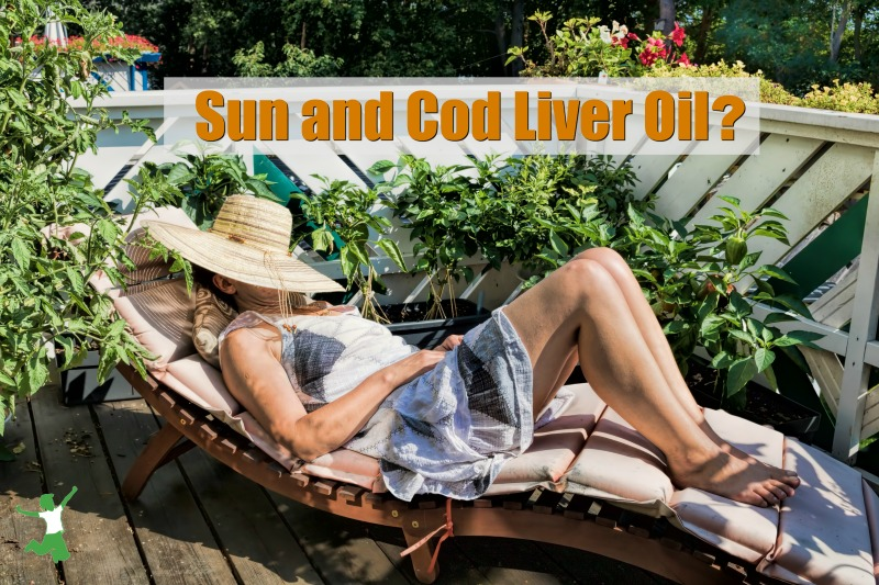 woman sunning on a patio after taking cod liver oil