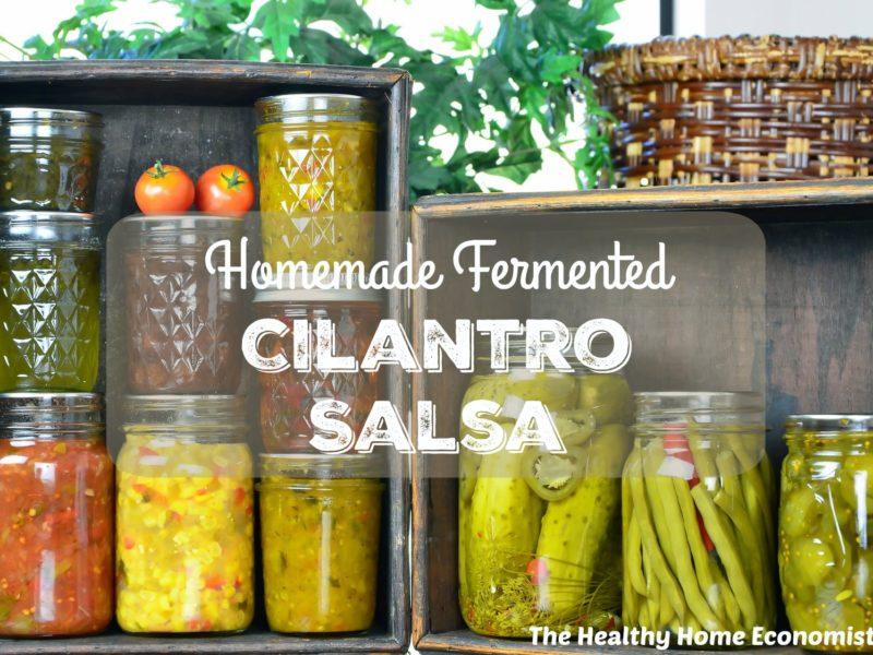 homemade cilantro salsa