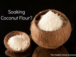 coconut flour soaked