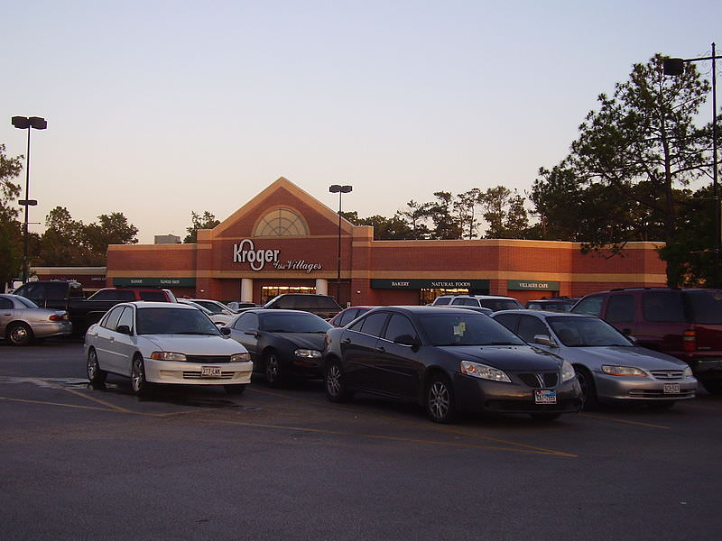 People shopping at Kroger supermarket