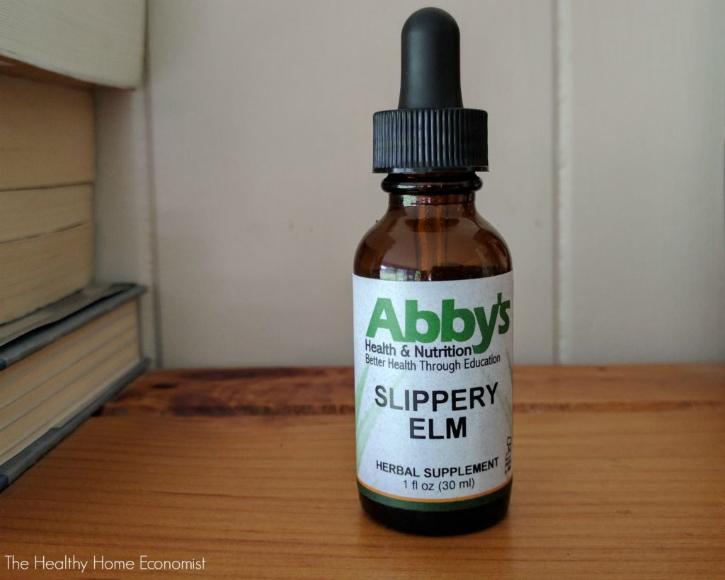bottle of beneficial slippery elm tincture