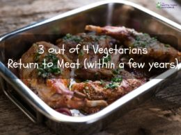 most vegetarians eat meat again