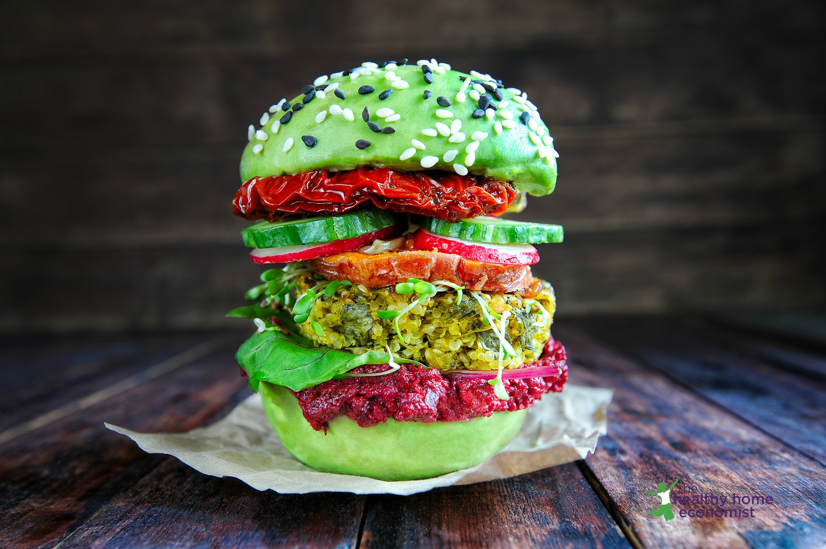 raw veganism burger