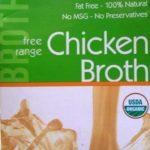 chicken broth label