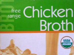 chicken broth label