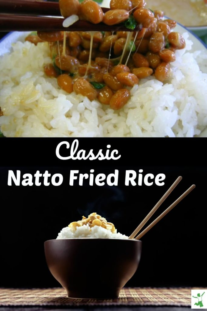 natto fried rice in a bowl
