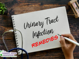 home bladder infection remedies written on a prescription card
