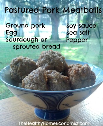 Pork meatballs
