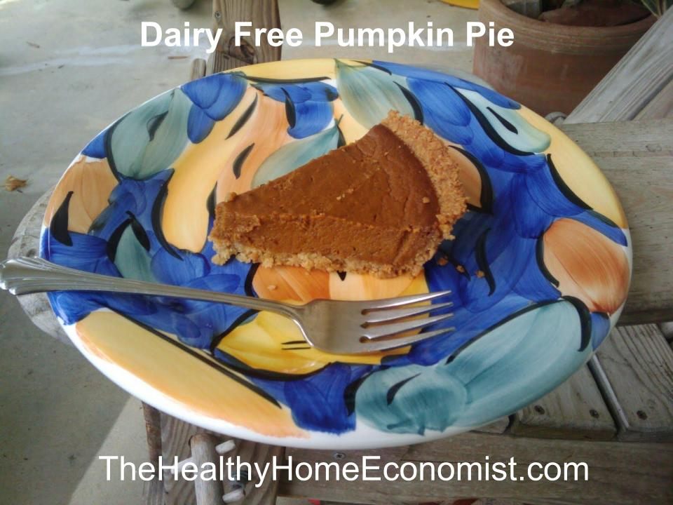 dairy free pumpkin pie video
