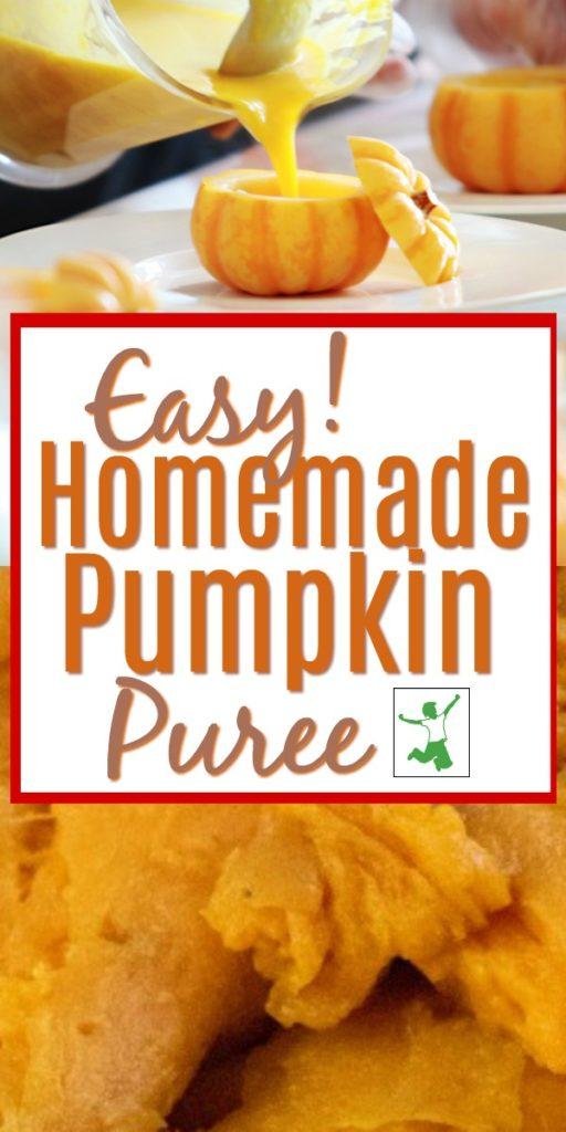 easy diy pumpkin puree in a bowl