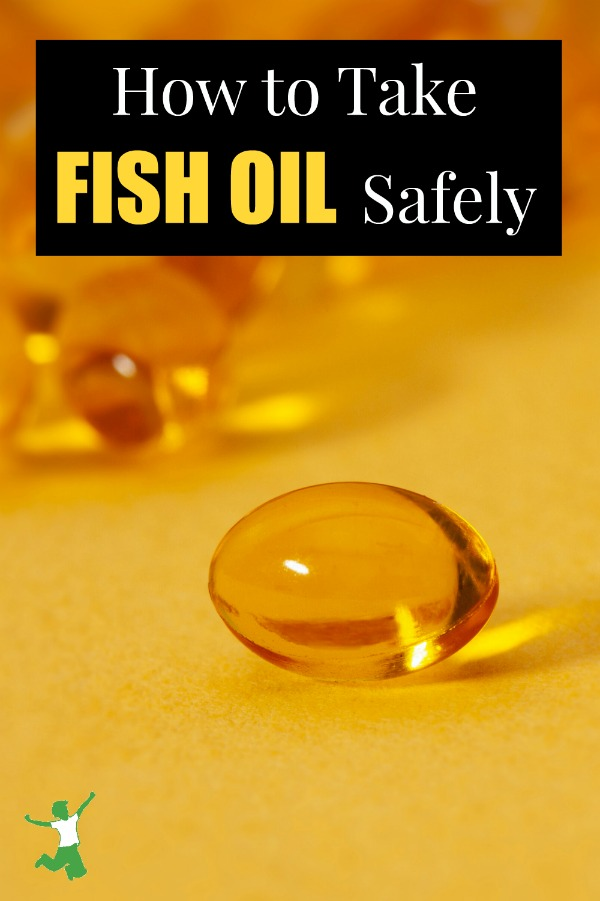 fish oil capsule on a table