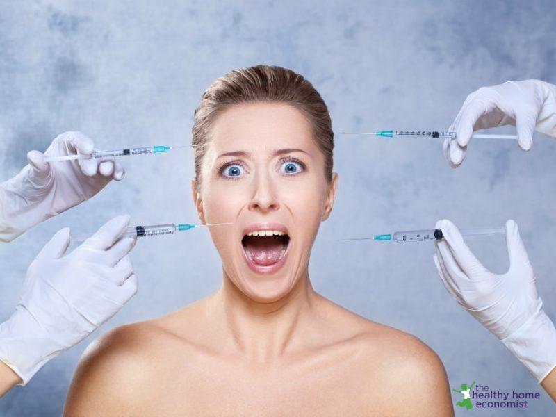woman getting botox from vitamin k2 deficiency wrinkles