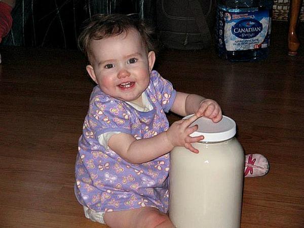 raw milk baby