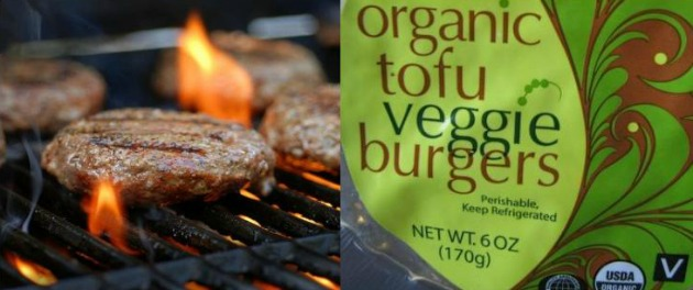 barbecue meat vs veggie burgers