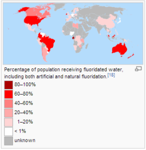 Countries that have fluoridated water