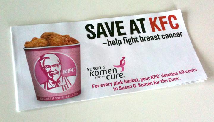 pinkwashing fast food