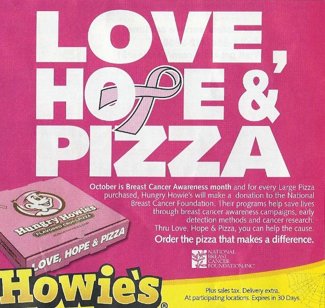 pinkwashing pizza