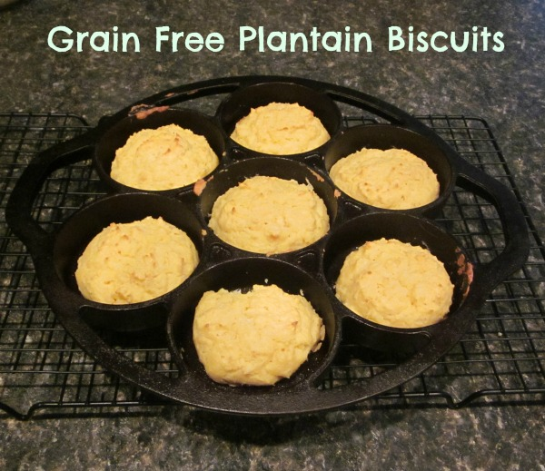 Grain Free Plantain Biscuits