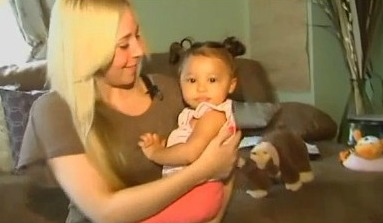 Jessica Moser and baby Jasmine