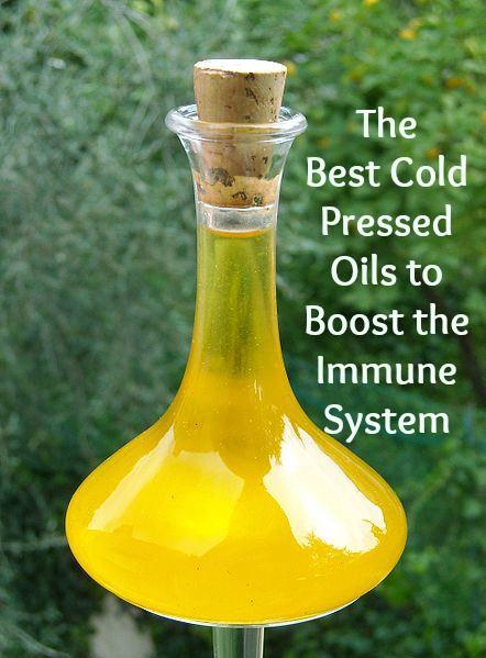 Cold pressed oils boost immunity