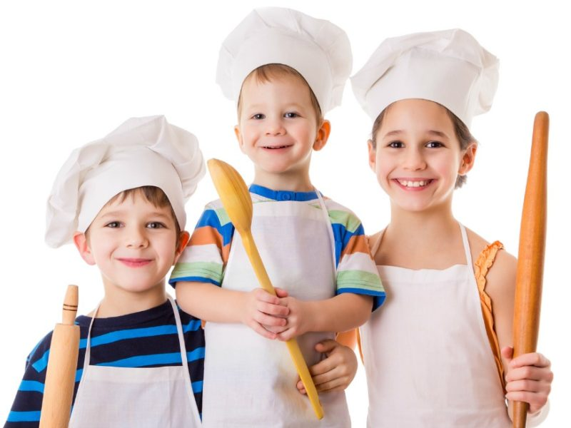 kids learning cooking skills
