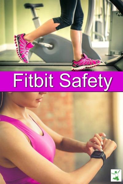 woman on treadmill wearing a fitbit
