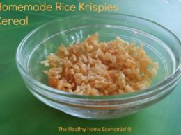 Homemade Rice Krispies Cereal