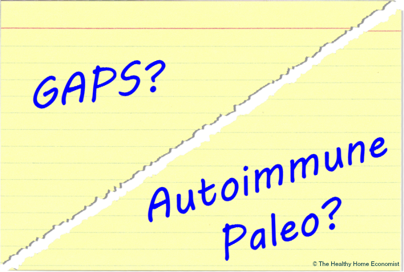 GAPS or Autoimmune Paleo