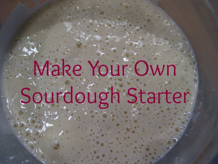 bubbling sourdough starter
