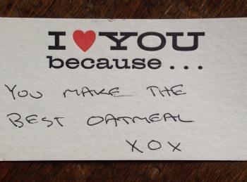 Carolyn Murphy best oatmeal note