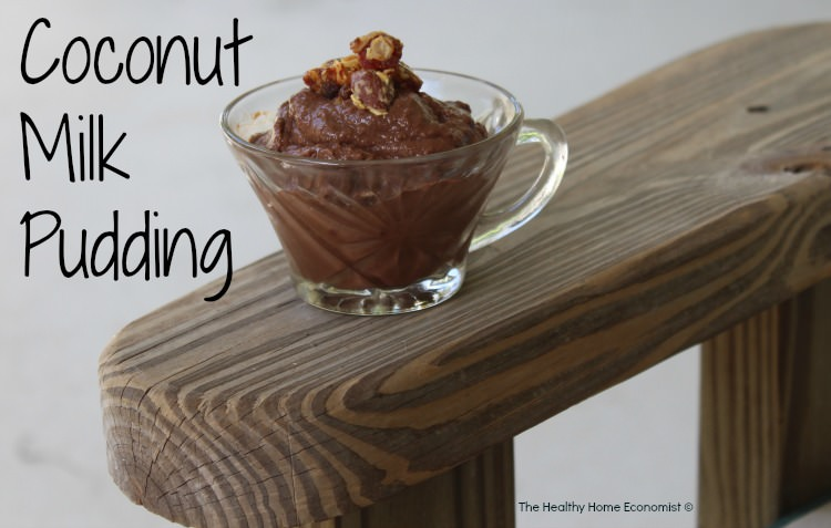 cupful of coconut milk pudding