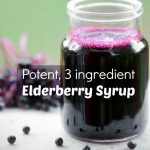 Easy Elderberry Syrup to Beat Colds and Flu (or Drizzle on Pancakes!)