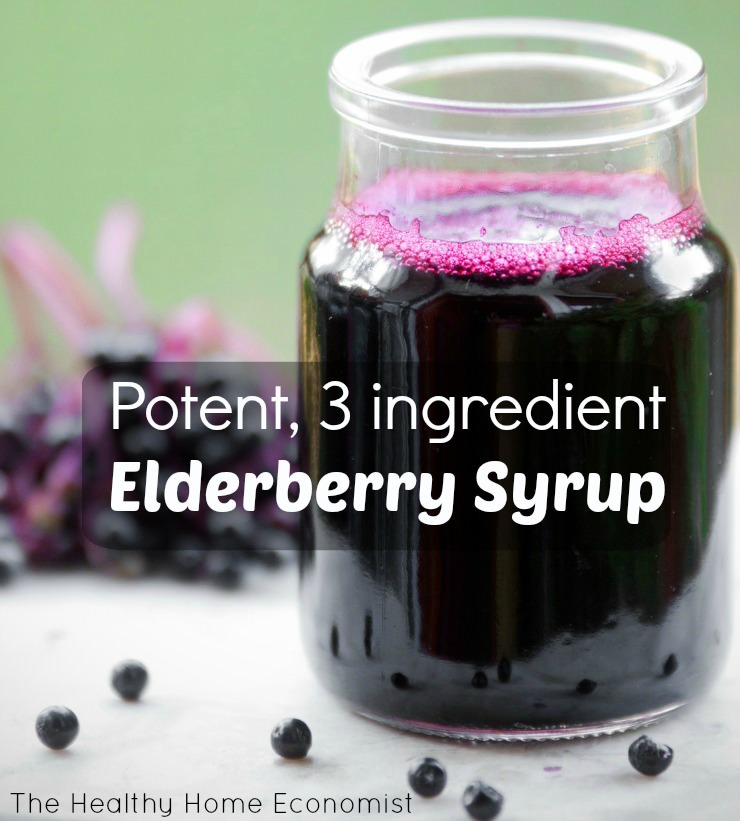 elderberry syrup in a jar
