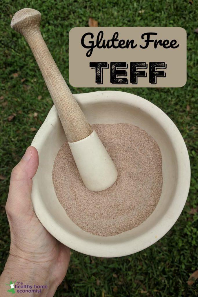 freshly ground teff flour