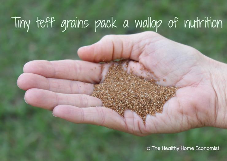 handful of teff grains