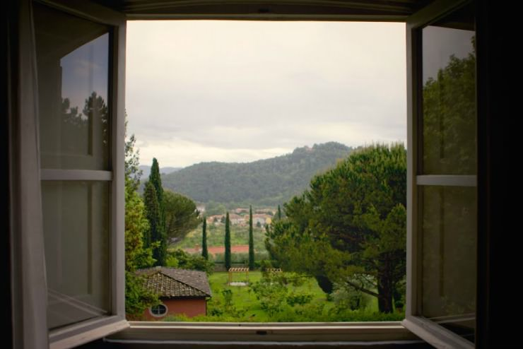 Tuscan villa view from window_mini