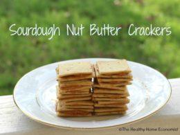 Einkorn Sourdough Crackers with Nut Butter