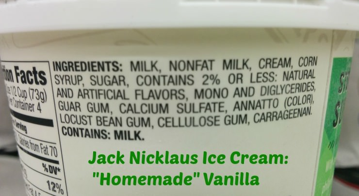 Jack Nicklaus premium ice cream