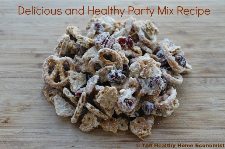 healthy party mix recipe _mini